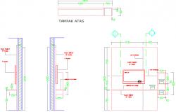 tv unit design dwg file