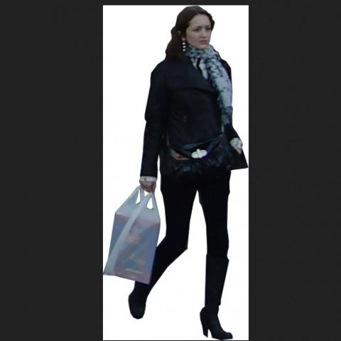 Walking lady detail 3d model CAD blocks layout photo file