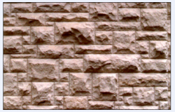 wall of split wall lining of stone textured design