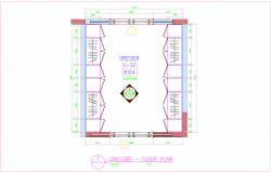 wardrobe detail in dresser floor area with furniture view dwg file