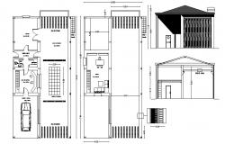 warehouse plan 10.50mtr x 20.0mtr with detail dimension in AutoCAD