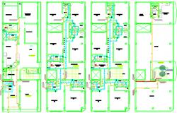 Plumbing layout plan autocad dwg, water & sanitary plumbing home