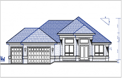 west elevation details dwg files