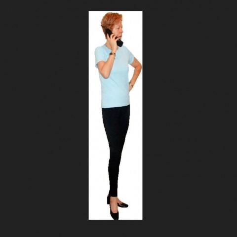 Woman talking on phone detail 3d model layout CAD blocks photo file