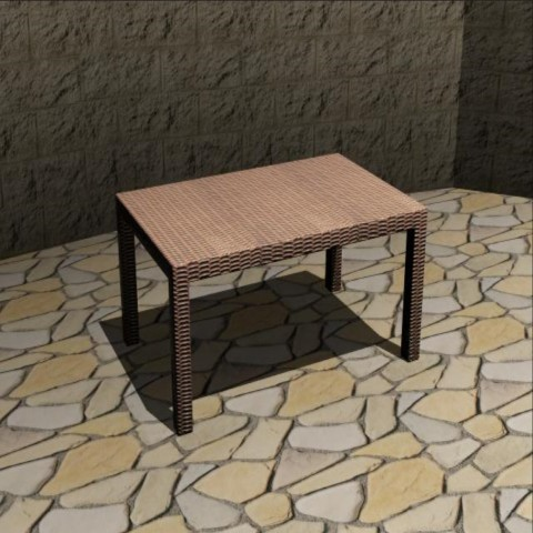 Wooden table elevation 3d drawing details dwg file