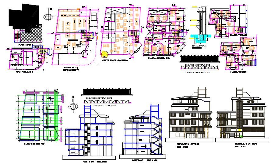 5 floors multi family building
