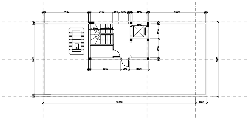 Autocad drawing of rooftop plan