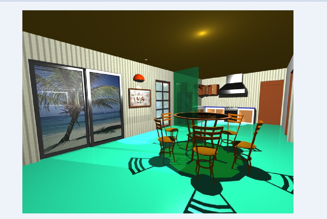 3d Dining Room In AutoCAD File