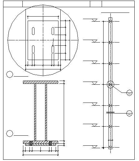 I - Beam Detail in DWG file
