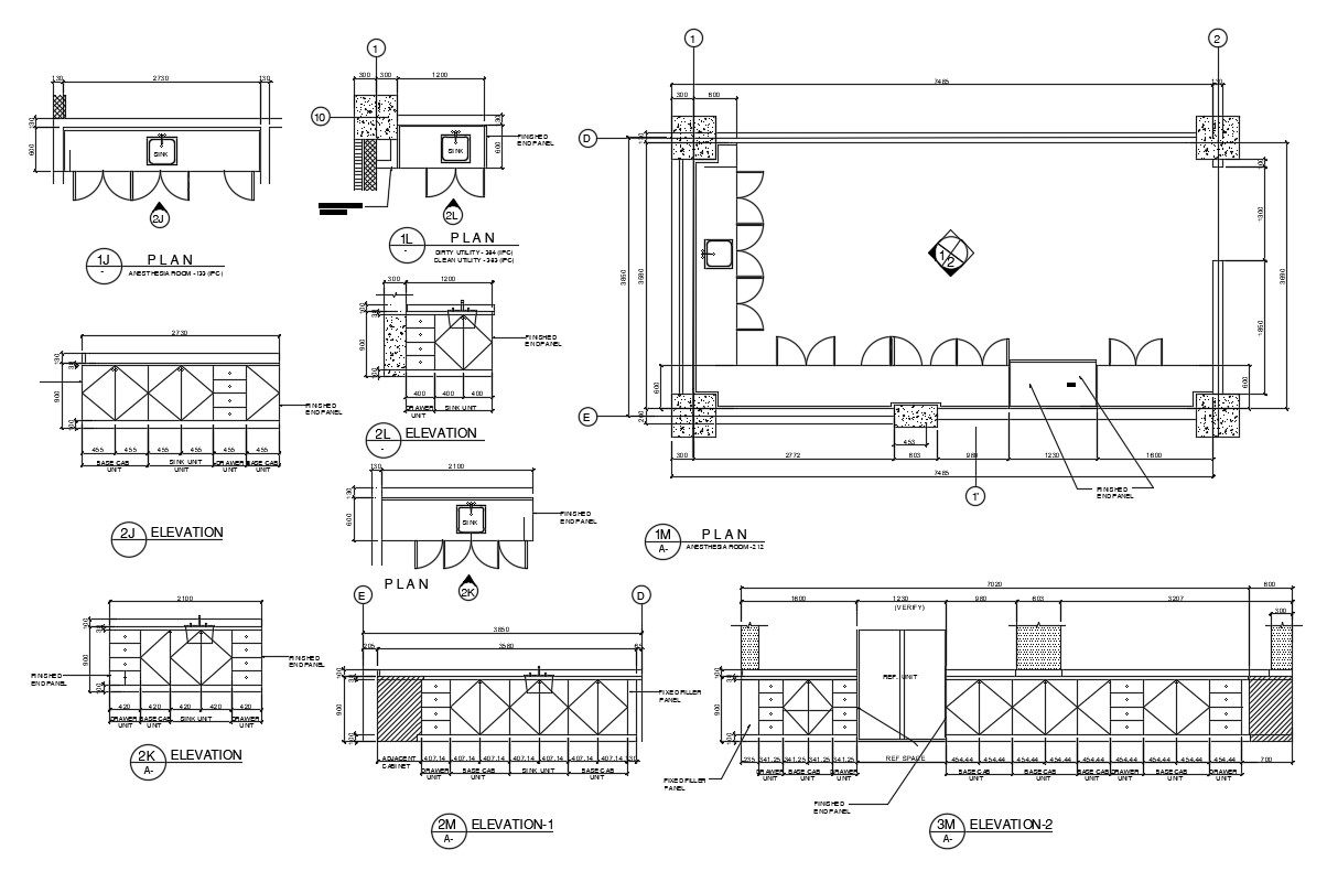 Kitchen Cabinet Design Drawing Autocad File Cadbull