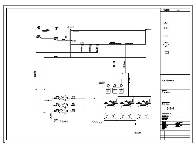 Pool system diagram Detail.