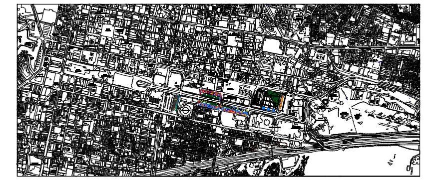 Urban planning in dwg file