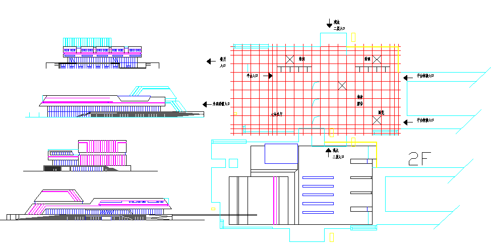 conference Center All Detail in cad file