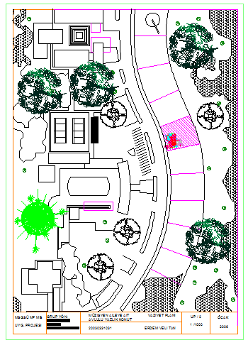 Landscaping layout of house design planing