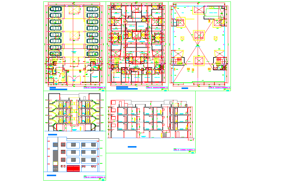 Hotel lay-out plan
