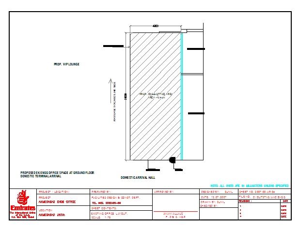Office Lay-out plot area Design