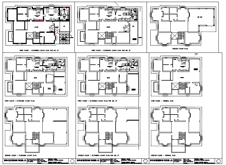 Floor lay-out design in apartment