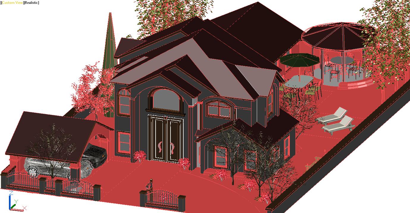3D Bungalow design