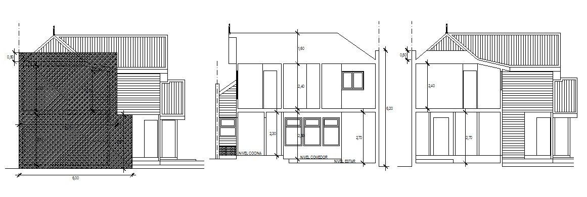 2 Storey Bungalow Design In DWG File