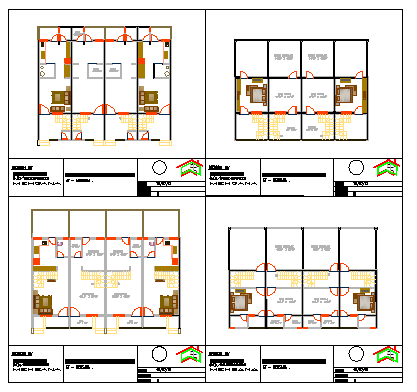 2 type proposed layout design drawing of Raw house design.
