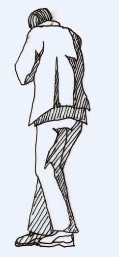 2D block of Man design drawing