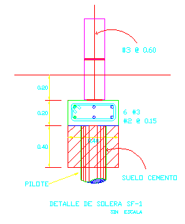 2D block of support design drawing