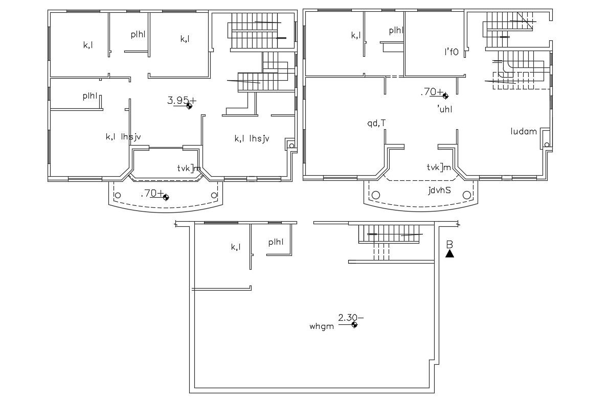 2 Storey House 4 Bedroom Floor Plan Design DWG File - Cadbull