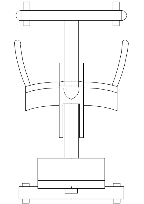 2d elevation of gym equipment