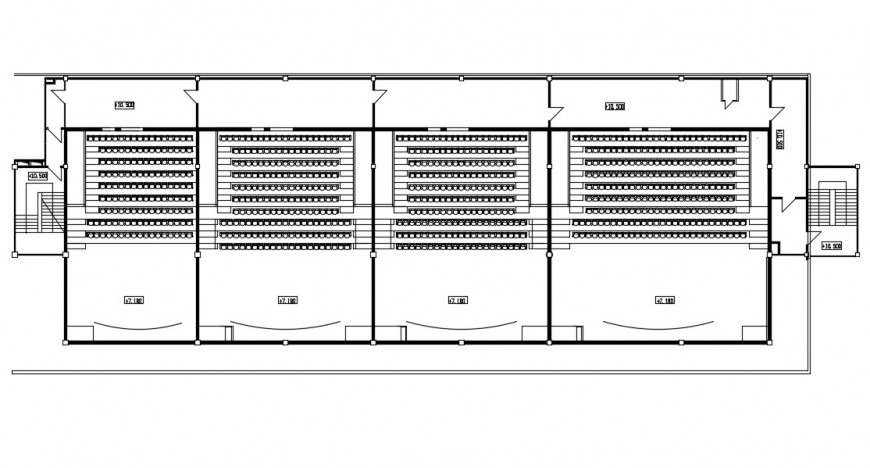 2d cad drawing of cinema theatre autocad software