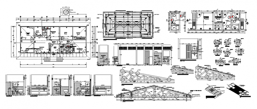 2d cad drawing of health post autocad software