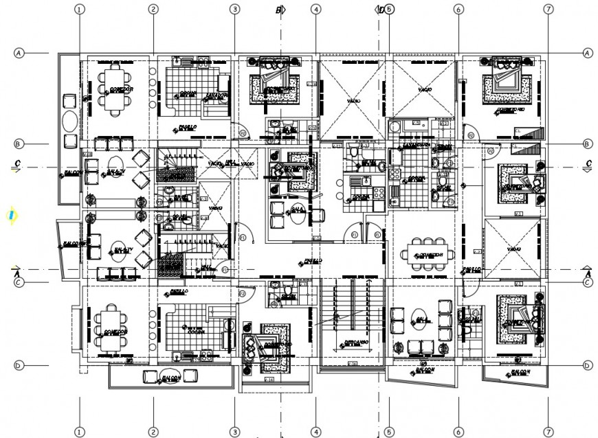 2d drawings detail of housing living apartment plan dwg file
