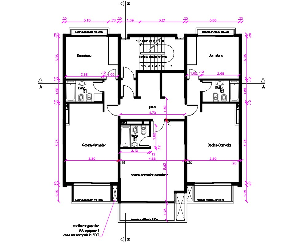 3 BHK  House  Layout Plan  With Dimension In CAD  Drawing