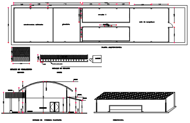3 D commercial Plan and elevation working plan detail dwg file