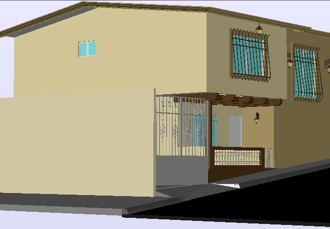 3 D duplex house detail dwg file