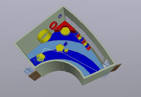 3 D office plan layout detail dwg file