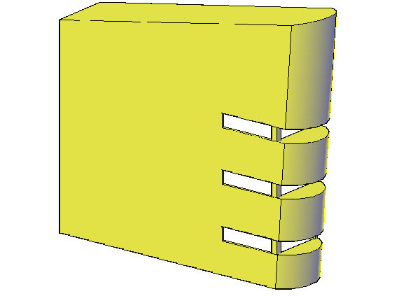 3 D wall elevation detail dwg file