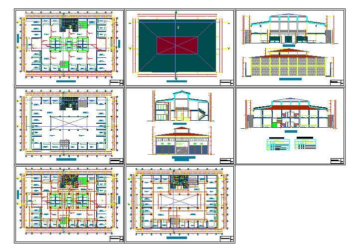 3 Storey Commercial Building Floor Plan Cadbull
