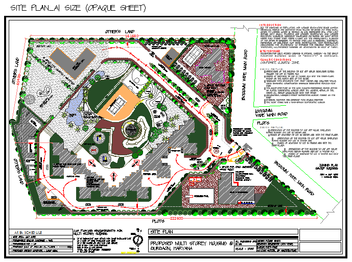 Site Plan of Multi story housing