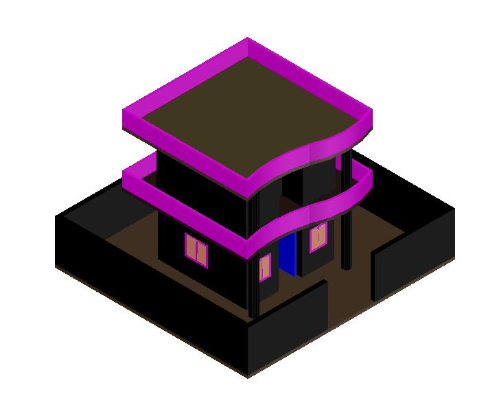 3D Duplex House Design