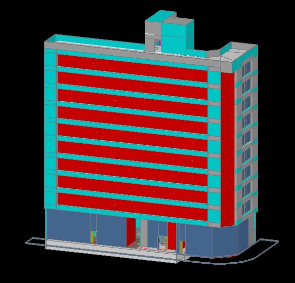 3D HIgh Rise Building design