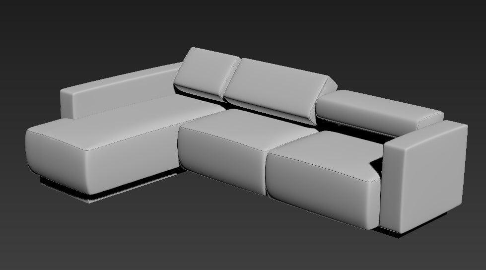 3D MAX Download Lazy Sofa Cum Bed File Free