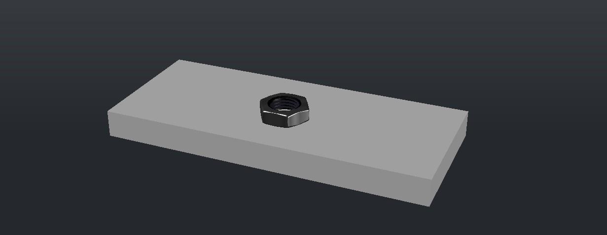 3D Nut Block In DWG File