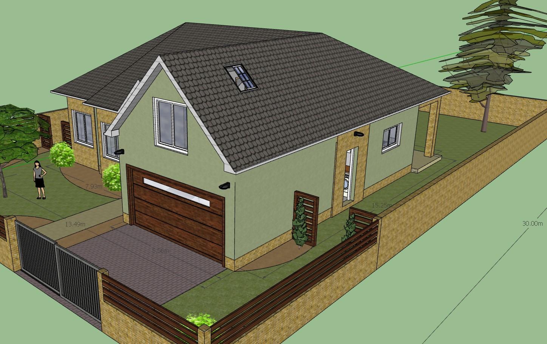 3D Summer Mansion with a Garage