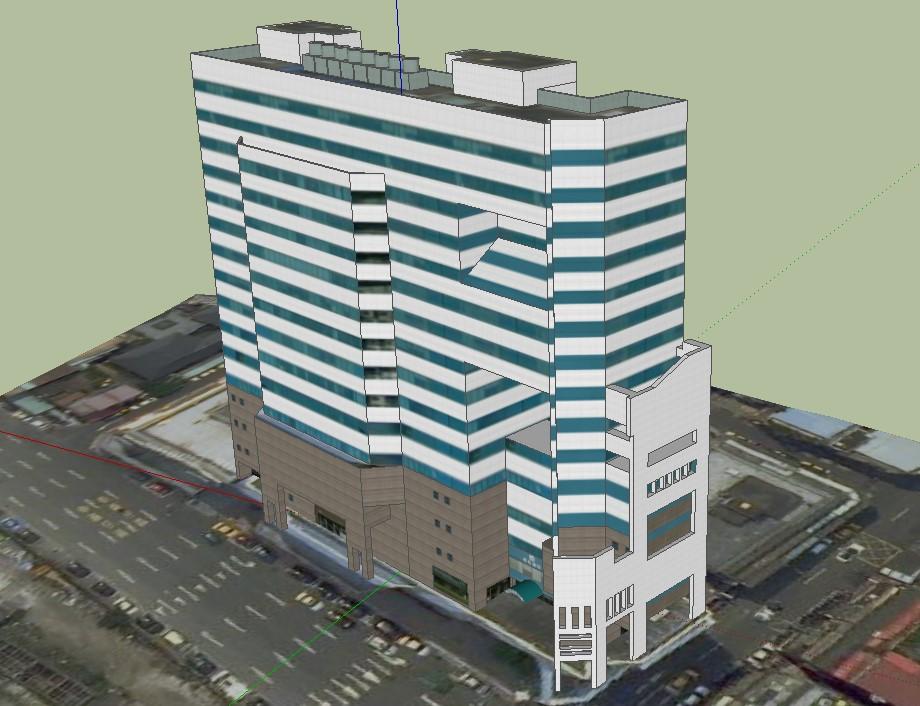 3D Tower Building SKP Design