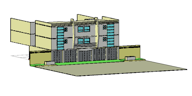 3D design of Apartment building drawing