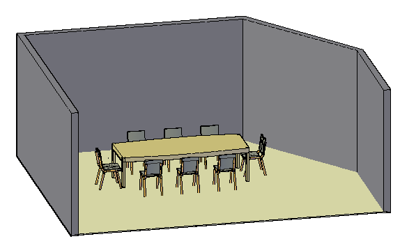 3D design of Meeting room design drawing