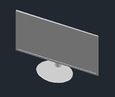 3D design of Monitor LCD Samsung
