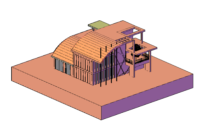 3D drawing of Modern house design drawing