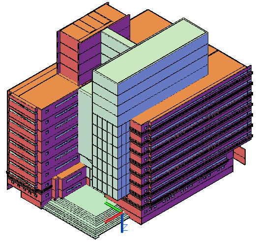3D drawing of Office design building