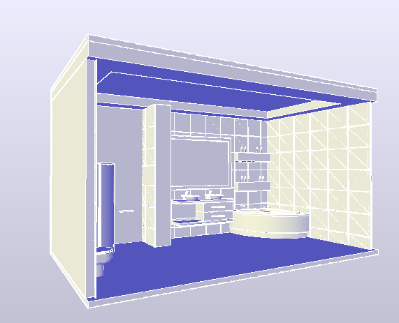 3D drawing of bathroom design drawing.